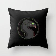 Dragon Kombat Throw Pillow