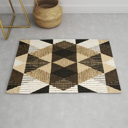 Geometry repeat pattern with texture background Rug
