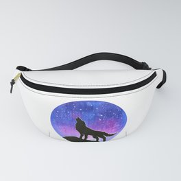 Galaxy Wolf Silhouette Fanny Pack
