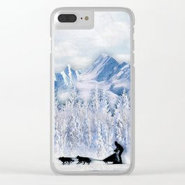 Dogsledding Clear iPhone Case