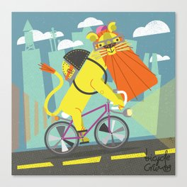I would be lion if I didn't say that was a nice commute. Canvas Print