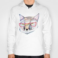 mr fox Hoodies featuring Mr Fox by Ashley Percival illustration