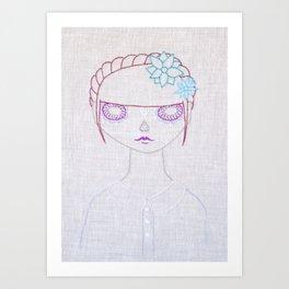 Dia de los Muertos Embroidery Art Print