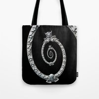 haunted mansion Tote Bags featuring Haunted Mansion dröste by designoMatt