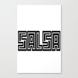 Salsa Engrave Bevel Canvas Print