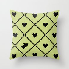Always Near (from the Valentine set) (colors: legally lime) Throw Pillow