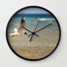 Seagull over the sea Wall Clock