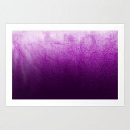 Purple Watercolor On Cotton Art Print