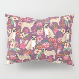 Pug dog breed floral must have cute pugs pure breed pet gifts Pillow Sham