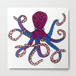 Otto the Octopus Metal Print