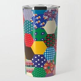 Hexagonal Patchwork Travel Mug