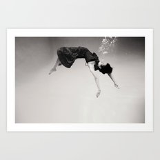 A Girl (Underwater) Art Print
