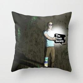 The Trash Society artwork Throw Pillow
