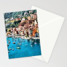 Côte d'Azur - French Riviera, France ocean landscape Stationery Cards
