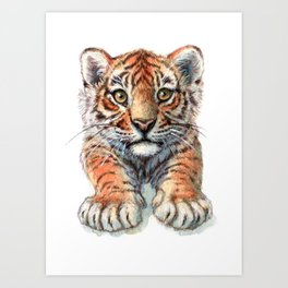Playful Tiger Cub 907 Art Print