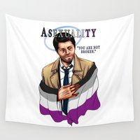 fandom Wall Tapestries featuring Fandom Pride : Asexuality by Seraph Limonade