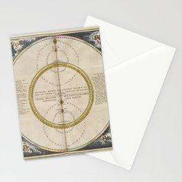 Keller's Harmonia Macrocosmica - Motions of Venus and Mercury 1661 Stationery Cards