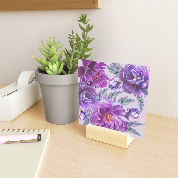Violet and Purple Flowers Mini Art Print