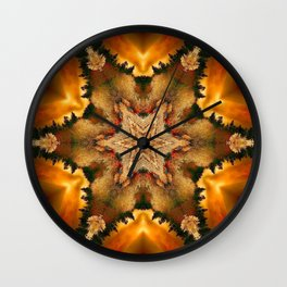 Autumn Star Mandala Wall Clock