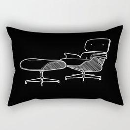 Mid-Century - Eames Lounge Chair Sketch (W) Rectangular Pillow