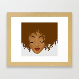 Big Hair Don't Care Framed Art Print