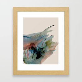 Begin again [2]: an abstract mixed media piece in a variety of colors Framed Art Print