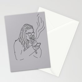Smoking Olsen, Gray Stationery Cards