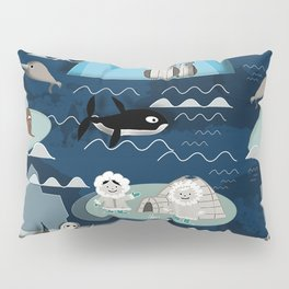 Arctic animals blue Pillow Sham