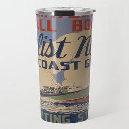 Vintage poster - Coast Guard Travel Mug