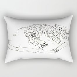 Kitten sleeping Rectangular Pillow