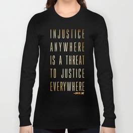 Martin Luther King Typography Quotes Long Sleeve T-shirt