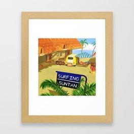 Costa Del Sol Surfing Suntan Framed Art Print