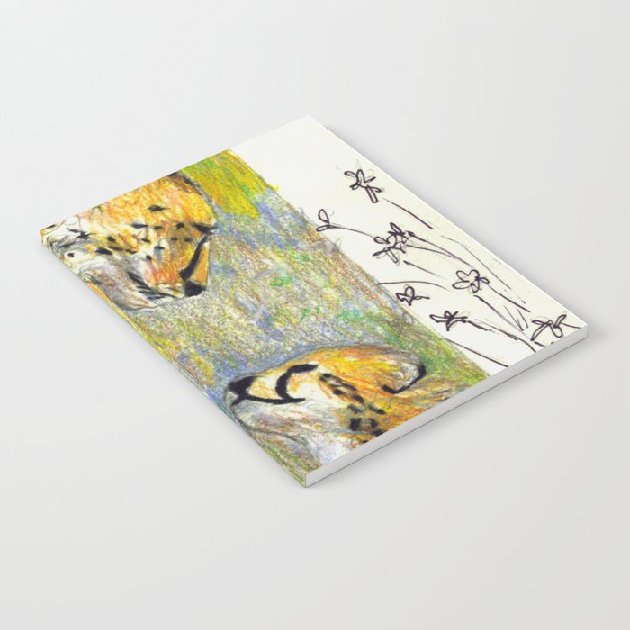 Mother and Child Cheetah Notebook