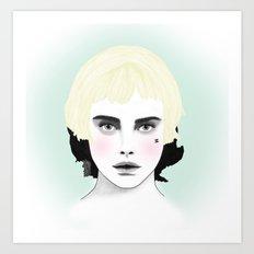 Fashion Illustration - Chanel Yellow  Art Print