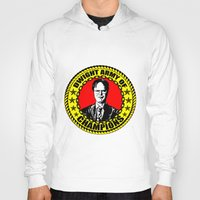 dwight schrute Hoodies featuring Dwight Schrute (Dwight Army Of Champions) by Silvio Ledbetter