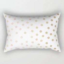 Stylish Gold Polka Dots Rectangular Pillow