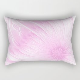 Pink Spring | Flower, abstract digital painting, cute floral pattern, pretty pastel flowers Rectangular Pillow