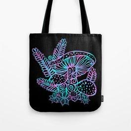 Glowing Mushrooms Tote Bag