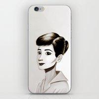 hepburn iPhone & iPod Skins featuring Hepburn by animatorlu