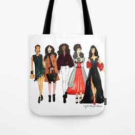 Glam Girls, Pinales Illustrated Tote Bag