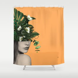 Lady Flowers Vlll Shower Curtain
