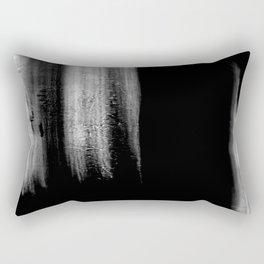 Black And White Bokeh Stripes Brush Strokes - Rad Rectangular Pillow