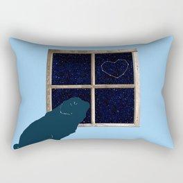 Stargazing Pug Rectangular Pillow