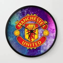 Manchaster United Colored Wall Clock