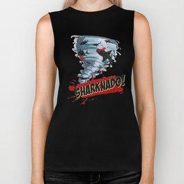 Sharknado - Sharks in Tornadoes - Shark Attack - Shark Tornado Horror Movie Parody Biker Tank
