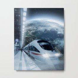 MUSK STATION Metal Print