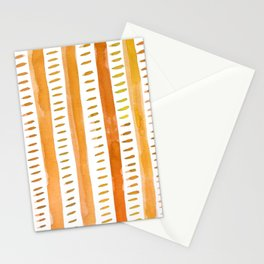 Watercolor lines - light orange Stationery Cards