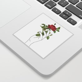 Flower in the Hand Sticker