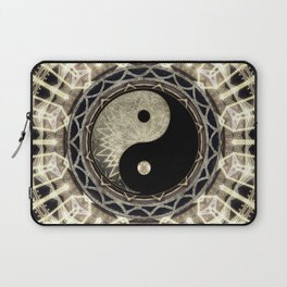 Yin Yang Geometry Mandala V1 Laptop Sleeve