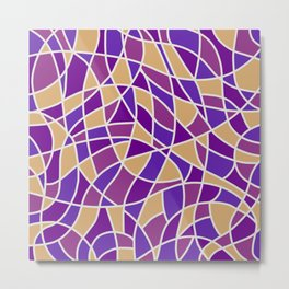 Curved Mosaic 03 Metal Print